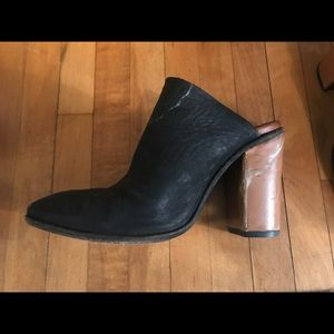 Good Worn Condition Free People Heeled Mules